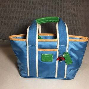 Coach Mini Hampton Blue Tote